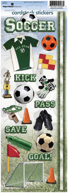 Soccer Two Cardstock Scrapbooking Stickers