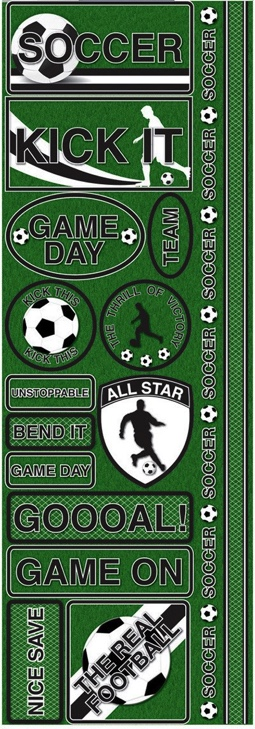 Soccer Cardstock Scrapbooking Stickers and Borders