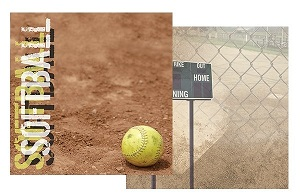 Softball 12x12 Double Sided Scrapbooking Paper