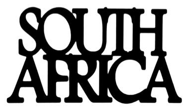 South Africa Scrapbooking Laser Cut Title