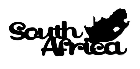 South Africa Scrapbooking Laser Cut Title with country shape