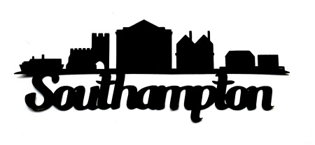 Southampton Scrapbooking Laser Cut Title with skyline