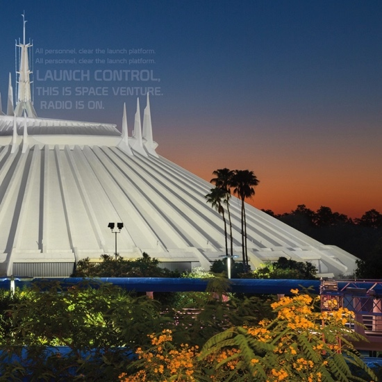 Space Mountain 12x12 Scrapbooking Paper