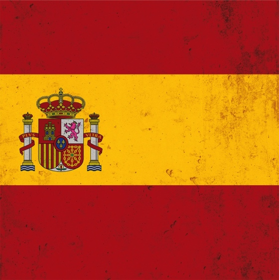 Spain Flag 12x12 Scrapbooking Paper