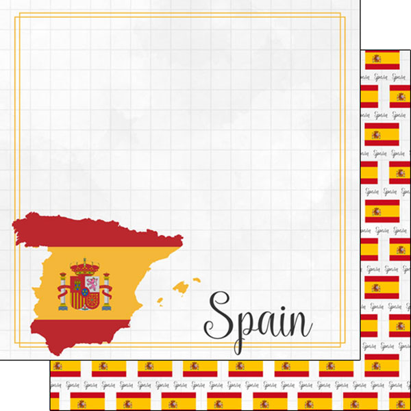 Spain 12x12 Double Sided Scrapbooking Paper