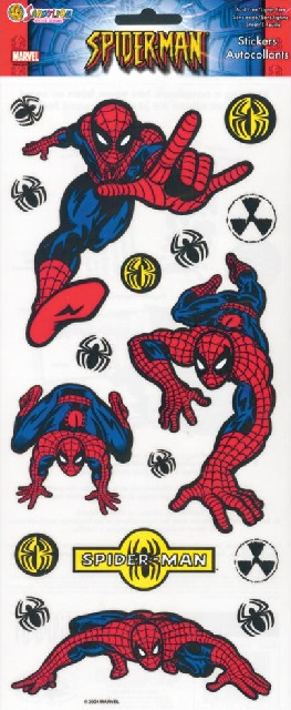 Spiderman Large Scrapbooking Stickers
