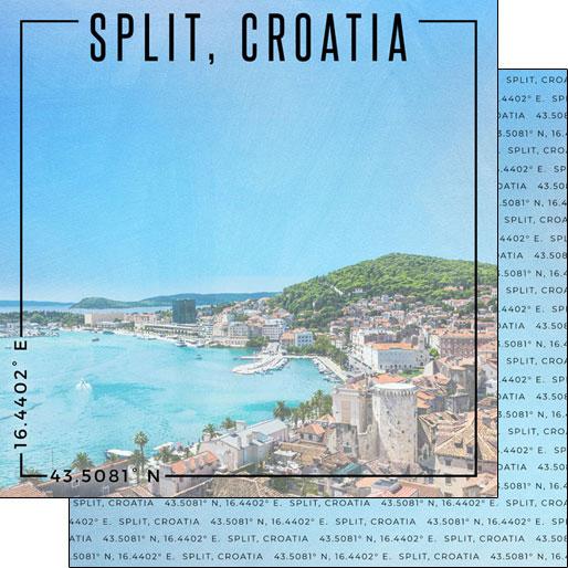 Split 12x12 Double Sided Scrapbooking Paper