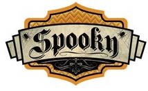Spooky Sign Scrapbooking Die Cut Sticker