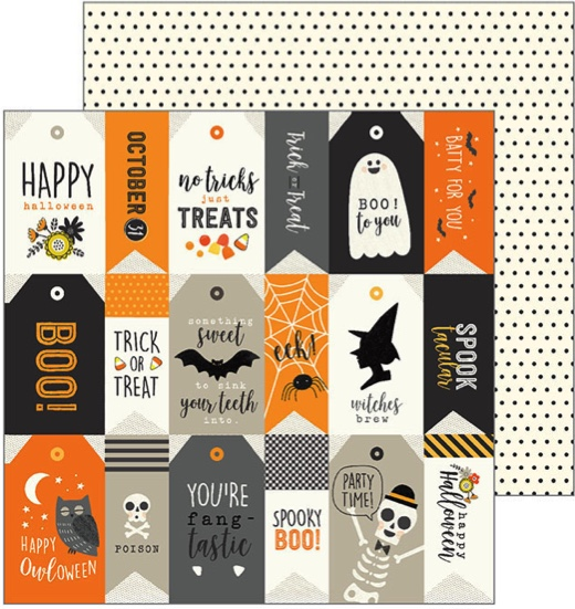 Spooky Boo Double Sided 12x12 Scrapbooking Paper
