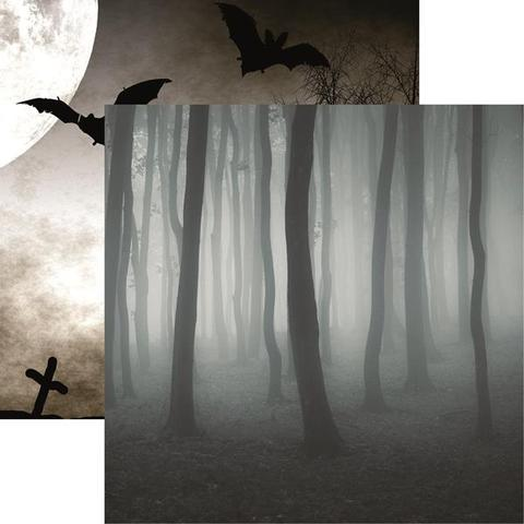 Spooky Forest 12x12 Double Sided Scrapbooking Paper