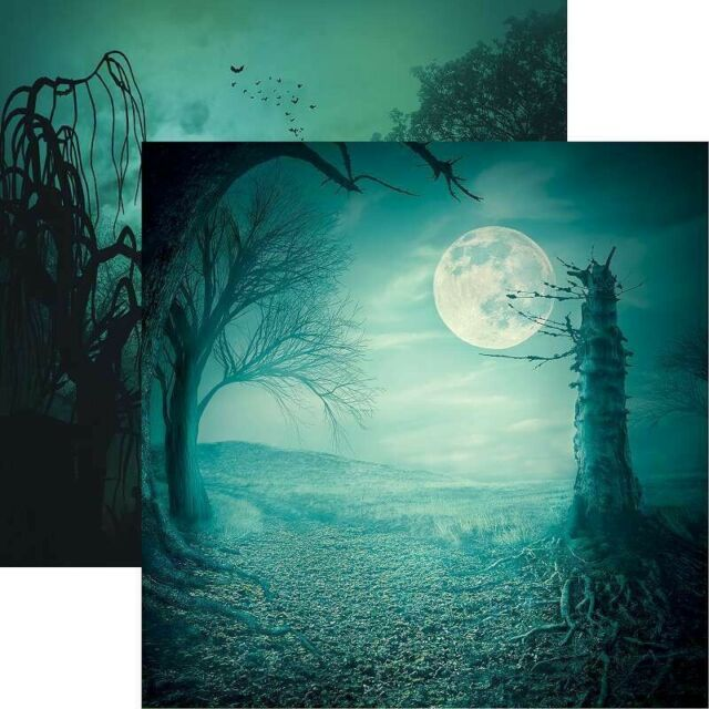 Spooky Night 12x12 Double Sided Scrapbooking Paper