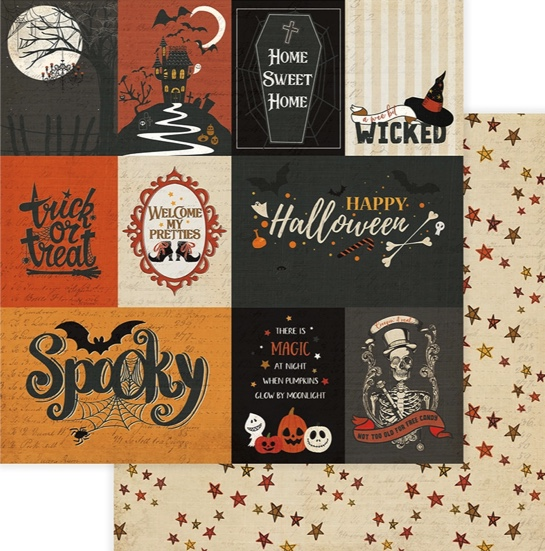 Spooky Double Sided 12x12 Scrapbooking Paper