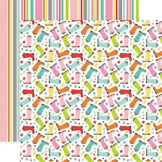 Spring Showers Double Sided 12x12 Scrapbooking Paper