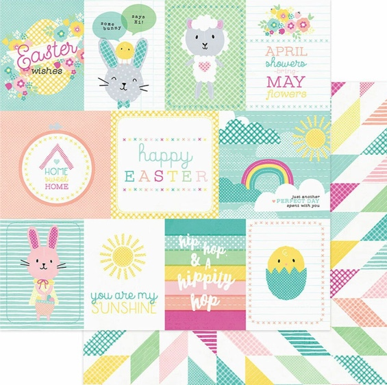 Spring Wishes Double Sided 12x12 Scrapbooking Paper
