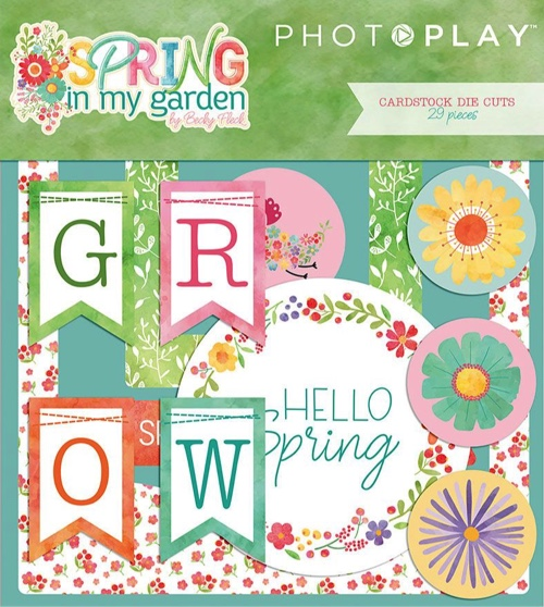 Spring in My Garden Die Cut Scrapbooking Ephemera
