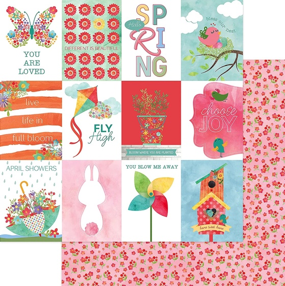 Sprout Double Sided 12x12 Scrapbooking Paper