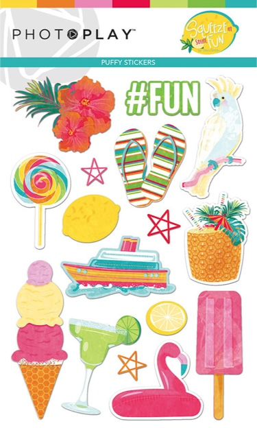 Squeeze Some Fun Puffy Scrapbooking Stickers