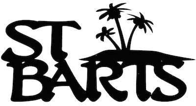 St Barts Scrapbooking Laser Cut Title With Palm Trees