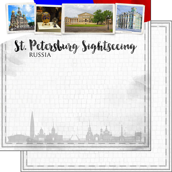 St Petersburg Sightseeing 12x12 Double Sided Scrapbooking Paper