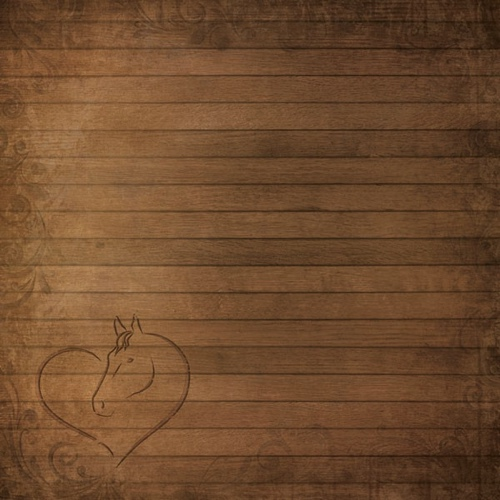Stable Wood Horse 12x12 Scrapbooking Paper