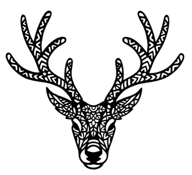Stag Head Intricate Laser Cut