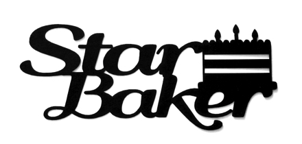 Star Baker Scrapbooking Laser Cut Title with Cake