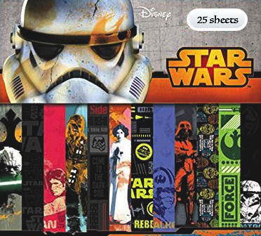 Star Wars Scrapbooking Pack - 25 Sheets of 12x12 Paper