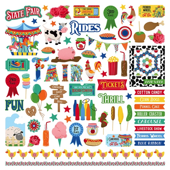 State Fair 12x12 Cardstock Scrapbooking Stickers