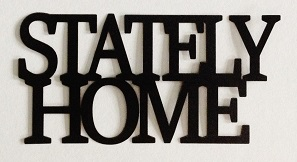 Stately Home Scrapbooking Laser Cut Title