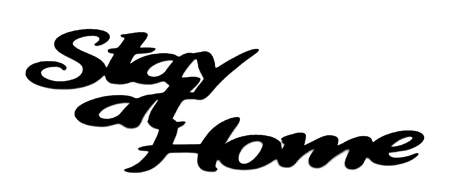 Stay at Home Scrapbooking Laser Cut Title