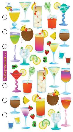 Cocktails Scrapbooking Stickers