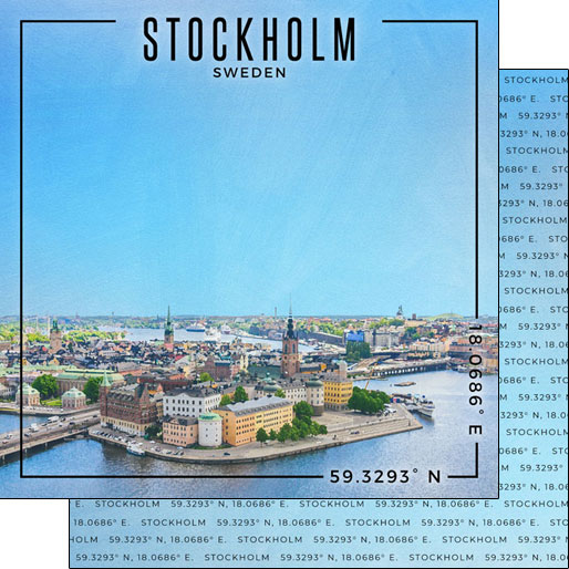 Stockholm 12x12 Double Sided Scrapbooking Paper
