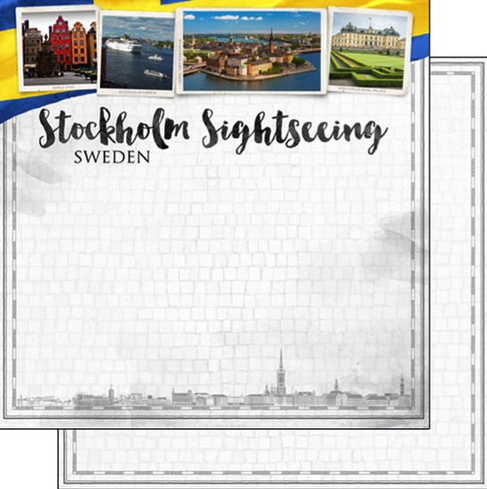 Stockholm Sightseeing 12x12 Double Sided Scrapbooking Paper