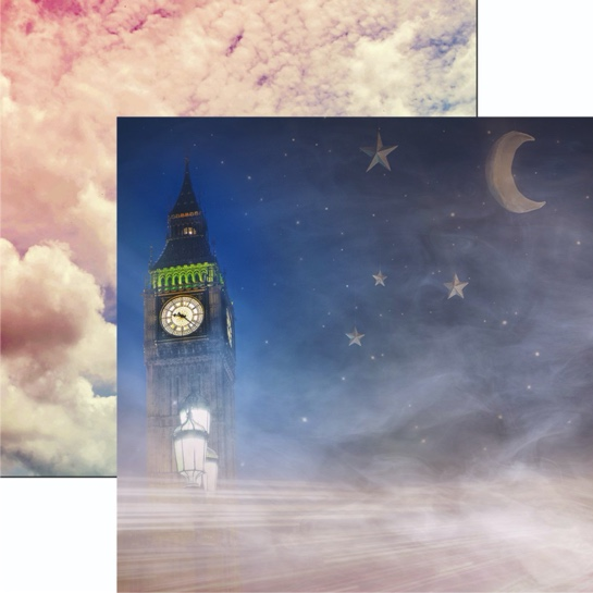 Storytime Big Ben 12x12 Double Sided Scrapbooking Paper