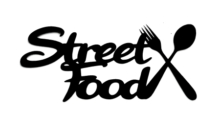 Street Food Scrapbooking Laser Cut Title with Cutlery