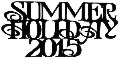 Summer Holiday 2015 Scrapbooking Laser Cut Title