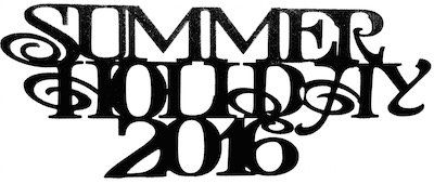 Summer Holiday 2016 Scrapbooking Laser Cut Title