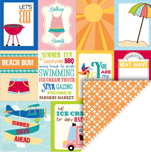 Summer Journal Double Sided 12x12 Scrapbooking Paper