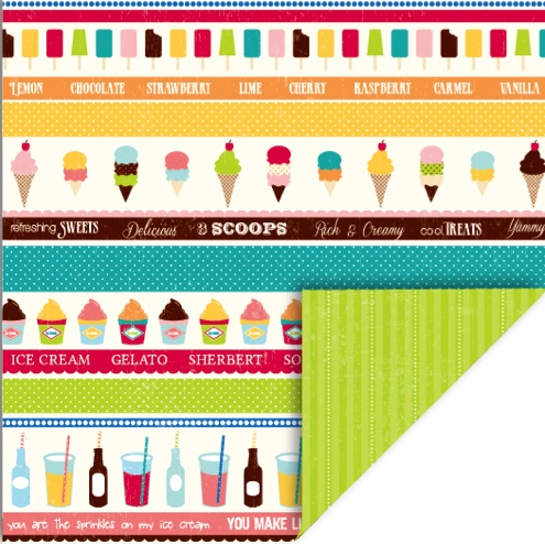 Summer Treats Double Sided 12x12 Scrapbooking Paper qco