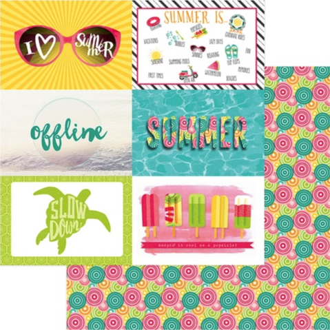Summer Fun 12x12 Double Sided Scrapbooking Paper