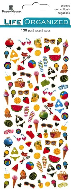 Summer Fun Micro Scrapbooking Stickers