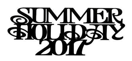 Summer Holiday 2017 Scrapbooking Laser Cut Title