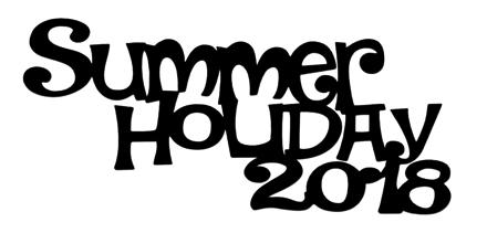 Summer Holiday 2018 Scrapbooking Laser Cut Title