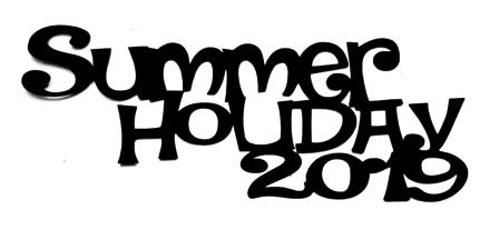 Summer Holiday 2019 Scrapbooking Laser Cut Title