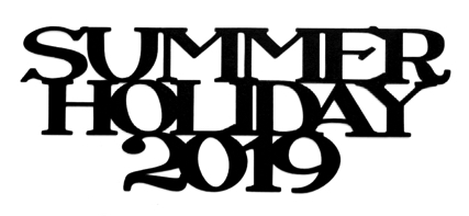 Summer Holiday 2019 Scrapbooking Laser Cut Title