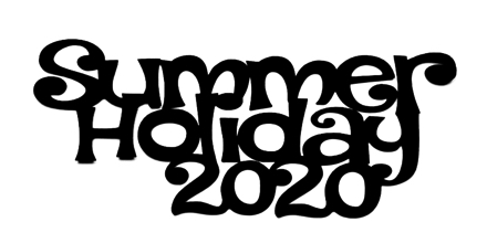 Summer Holiday 2020 Scrapbooking Laser Cut Title