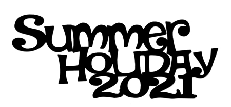 Summer Holiday 2021 Scrapbooking Laser Cut Title