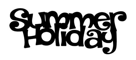 Summer Holiday Scrapbooking Laser Cut Title