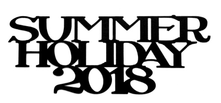 Summer Holiday 2018 Scrapbooking Laser Cut Title