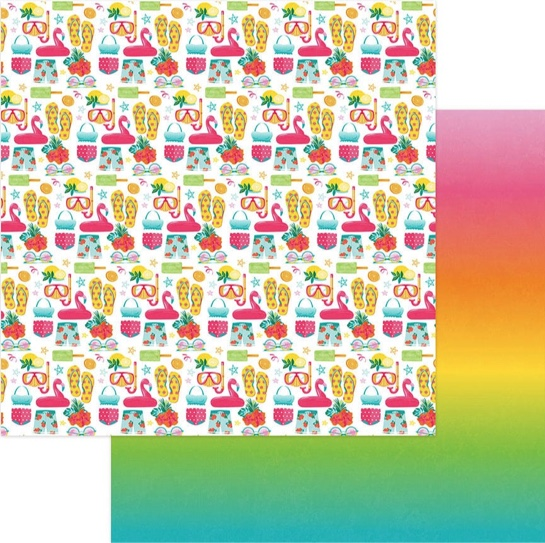 Summer Loving 12x12 Double Sided Scrapbooking Paper